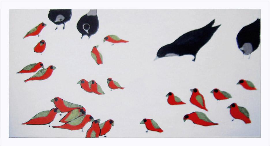 Oiseaux d'Elizabeth Jourdain, artiste peintre